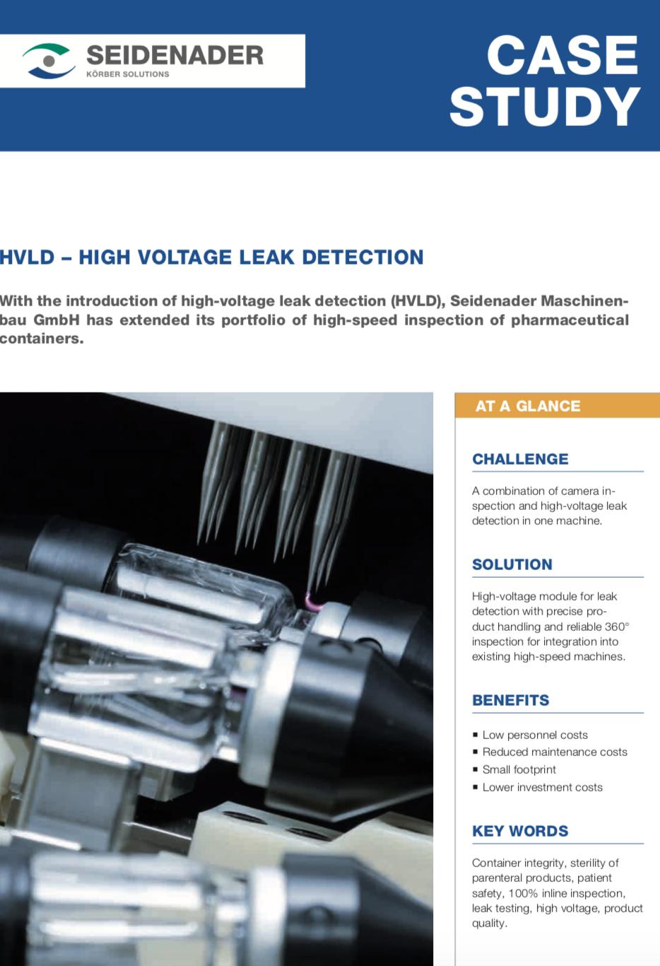 Seidenader High Voltage Leak Detection Case Study